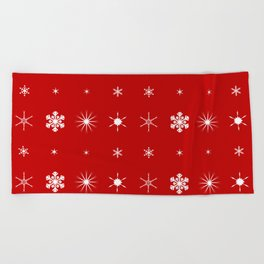 Christmas Paper Background Beach Towel