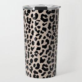 Tan Leopard Travel Mug