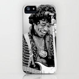 Jimi Hendrix Black And White Illustration iPhone Case