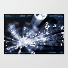 Daydreams Like Mainframes 007: Biodustrial Canvas Print