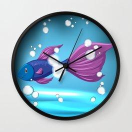 Bubble Fish Wall Clock
