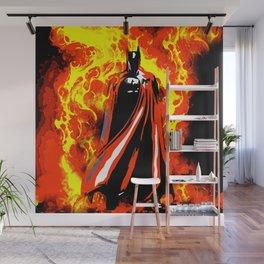 Bat on Fire Wall Mural