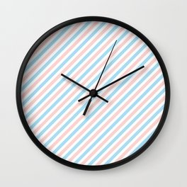 Blue, Pink & White 3 Wall Clock