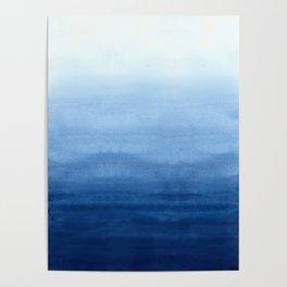 Blue Watercolor Ombré Poster