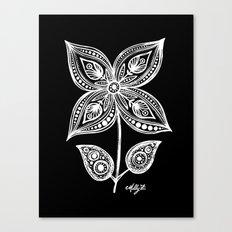 White Flowers 110 Canvas Print