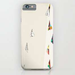 Walking Shadow, Paper Planes iPhone Case