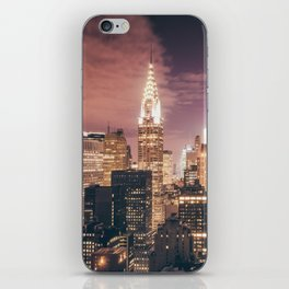 New York City - Chrysler Building Lights iPhone Skin