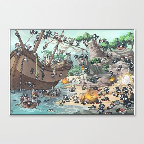 PiratesVSNinjas Canvas Print