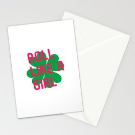 Roll Like a Girl Jiu Jitsu Irish St Patricks Day BJJ Stationery Cards