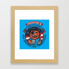 Fun with Fireworks Framed Art Print