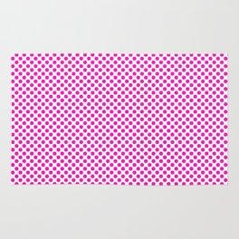 Shocking Pink Polka Dots Rug
