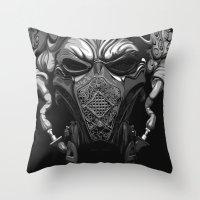 pilot Throw Pillows featuring Master Pilot by MORPHEUS
