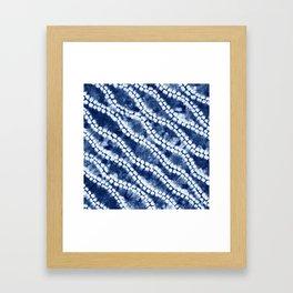 Shibori three Framed Art Print