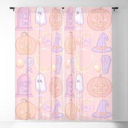 Halloween Pixel Pattern Blackout Curtain