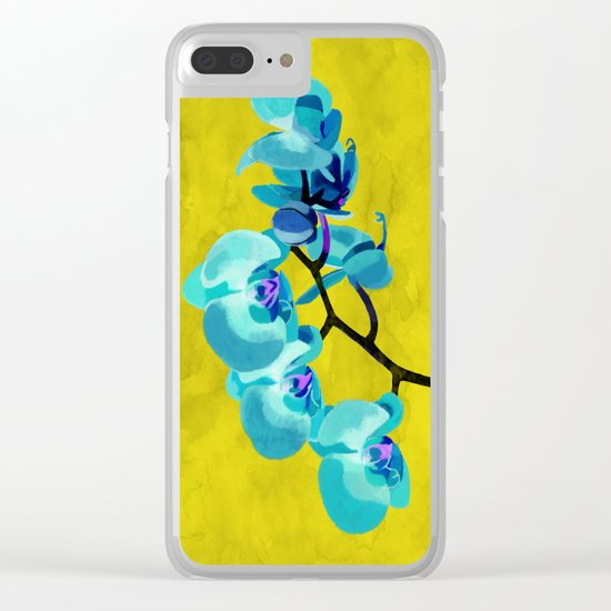 Orchid blue Clear iPhone Case
