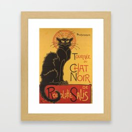 Soon, the Black Cat Tour by Rodolphe Salis Framed Art Print