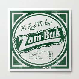 Zam-Buk The Real Makoya Herbal Ointment  Metal Print