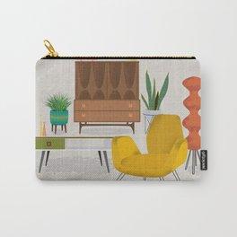 Mid Century Modern Retro Livingroom Carry-All Pouch