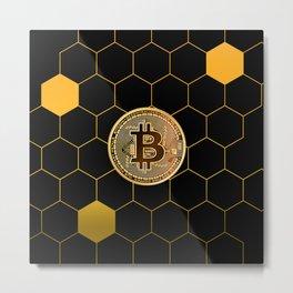 Bitcoin Bee Metal Print