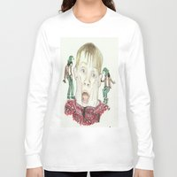 home alone Long Sleeve T-shirts featuring Home Alone by Jillian Doherty