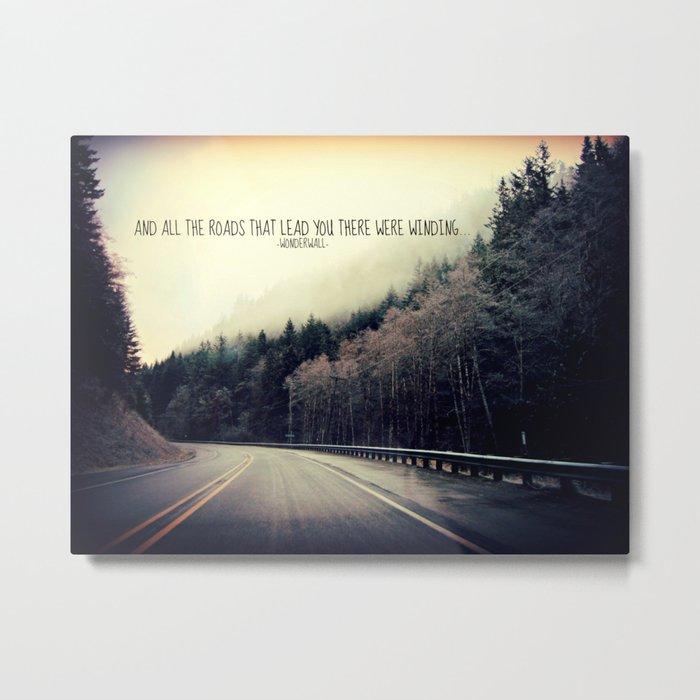 WINDING ROADS ON HWY 101  Metal Print