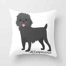 Monkey dog Throw Pillow