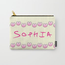 first Name  4 Sophia Carry-All Pouch