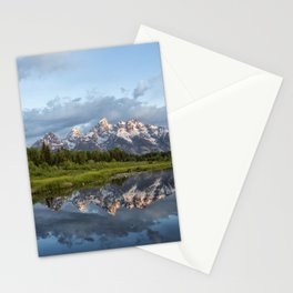 Light Touching the Grand Tetons Stationery Cards