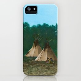 Assiniboine Camp - American Indian Tipis iPhone Case