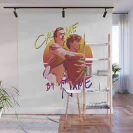 Call Me By Your Name Retro Sunset Wall Mural