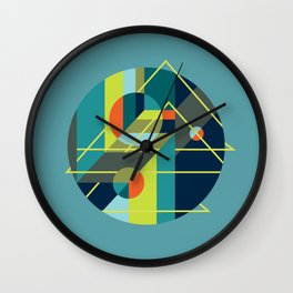 Scenarios, No. 1, on Blue Wall Clock