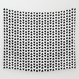 Black Triangles Wall Tapestry