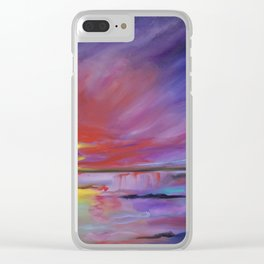Red Sunset 2 Clear iPhone Case