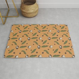 Bright Tropical Fruit Curtain Pattern Rug