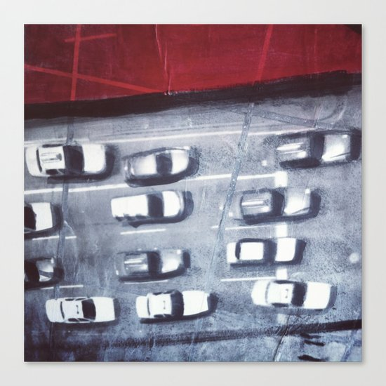 cars from above Canvas Print