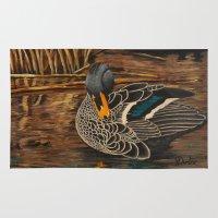 duck Area & Throw Rugs featuring Duck by Gelanda Dunbar
