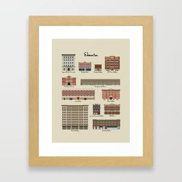 Edmonton Historical Buildings Framed Art Print