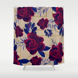 3d roses Shower Curtain