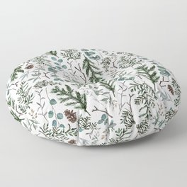 Pine and Eucalyptus Greenery Floor Pillow