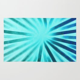 Intersecting-Aqua Rug