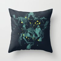 "deadmau5 Throw Pillows featuring Gravity Levels ""Space Bird"" by Sitchko Igor"