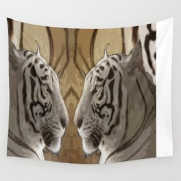 Tiger reflection Wall Tapestry