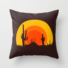 mucho calor Throw Pillow