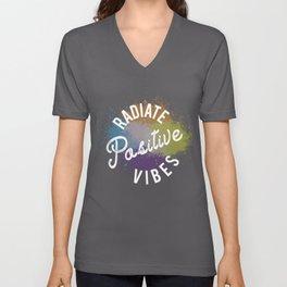 Radiate Positive Vibes Unisex V-Neck