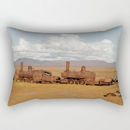 Train Going Nowhere Rectangular Pillow