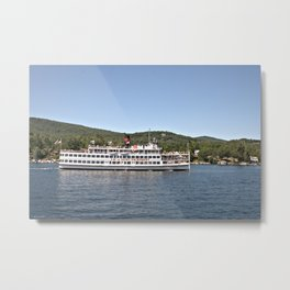 Lac du Saint Sacrement Steamboat Metal Print