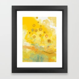 Abstract autumn with gold and warm light Framed Art Print