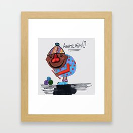 Cold nose Framed Art Print
