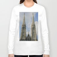 vienna Long Sleeve T-shirts featuring Vienna by Kim Ramage