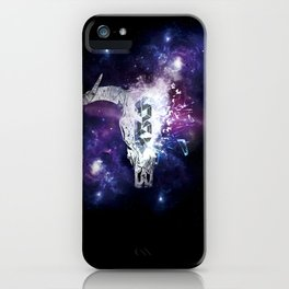 Ox skull space II iPhone Case